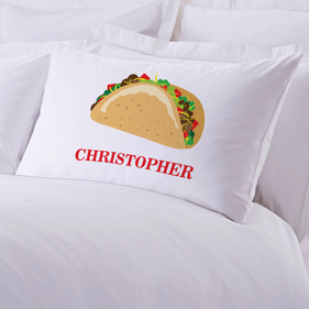 Personalized Taco Pillow Case