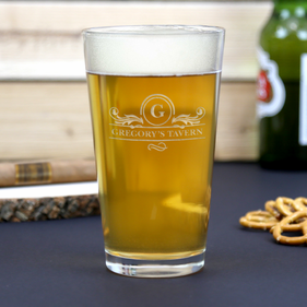 Personalized Tavern Beer Pint Glass