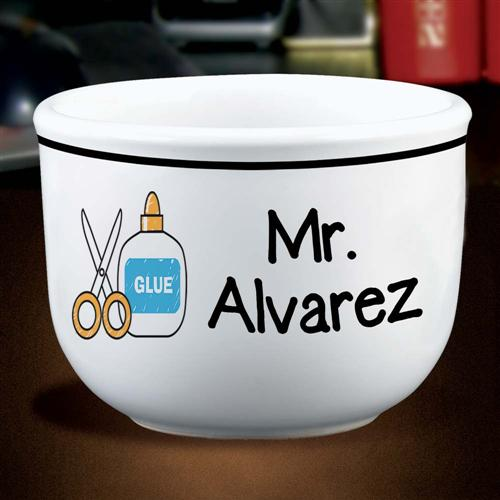 Personalized Teacher's Ice Cream Bowl