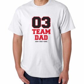 Personalized Team Dad T -Shirt