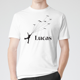 Personalized Teen Flying with Kites T-Shirt