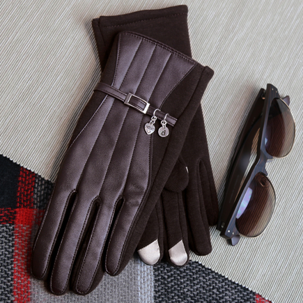 Texting Gloves Personalized with Initial Charm