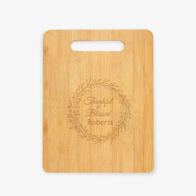 Personalized Thankful And Blessed Cutting Board