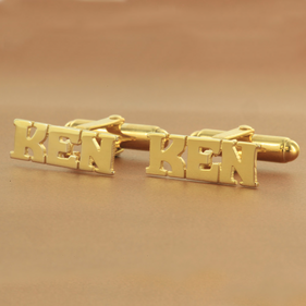 Block Letter Monogram Cuff Links