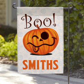 Personalized Wacky Halloween Garden Flag