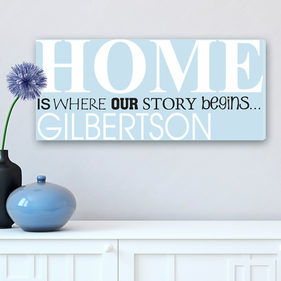 Personalized Our Story Personalized Canvas Print