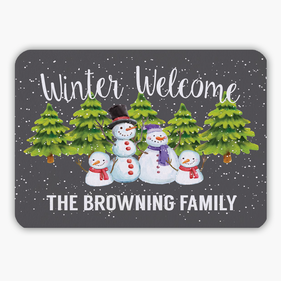 Personalized Winter Welcome Indoor Floor Mat