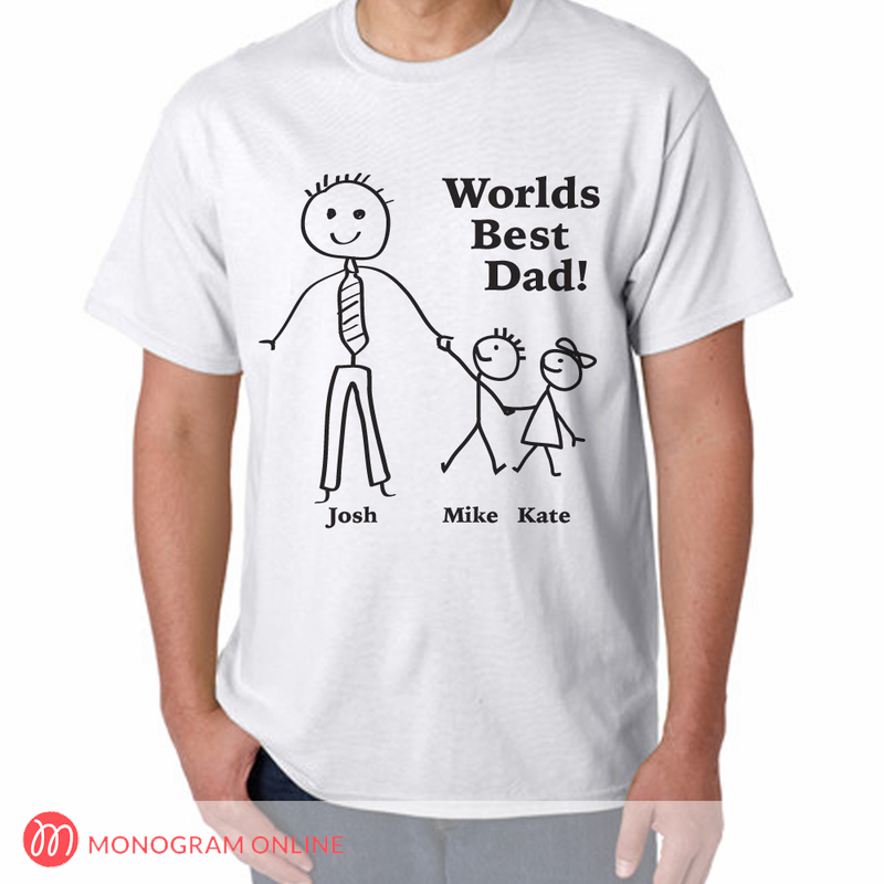 Personalized Worlds Best Dad T-Shirt - Monogram Online