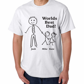 Personalized Worlds Best Dad T-Shirt