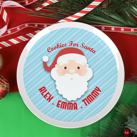 Personalzied Cookie Plate for Santa