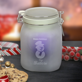 Personalized Solar Powered Glass Mason Jar