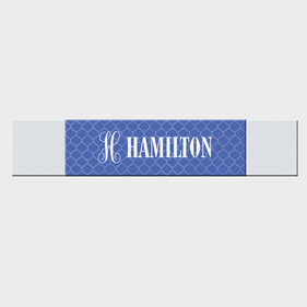 Quatrefoil Design Personalized Table Runner