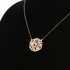 Rose Gold over Silver Monogram Necklace