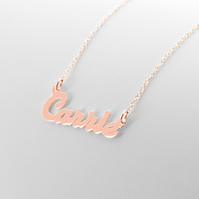 Rose Gold over Silver Personalized Name Necklace