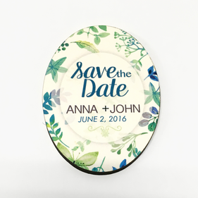 Save the Date Personalized Refrigerator Magnet
