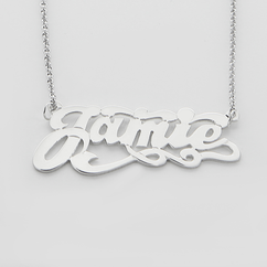 Sterling Silver Scrypt Name Necklace