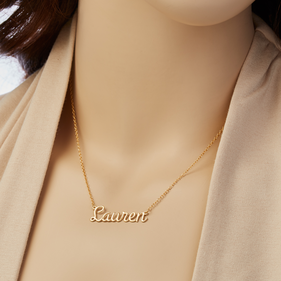 Silver Personalized Name Necklace
