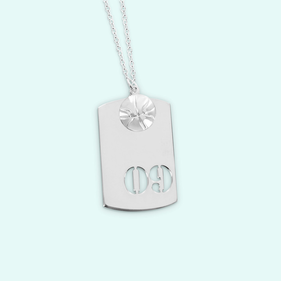 Silver Sports Charm With Small Basketball Ball Pendant Personalized With Cutout Numbers