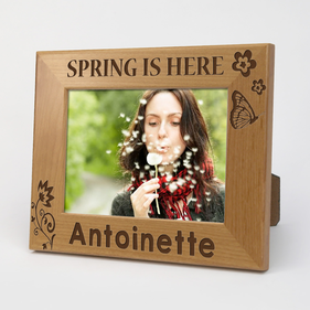 Spring Is Here Personalized Wood Picture Frame