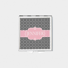 Square Geo Trellis Design Personalized with Name Pill Box