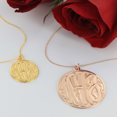 3-Dimensional Monogram Necklace