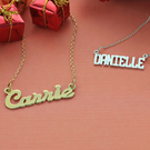 Sterling Silver and Yellow Gold over Silver Name Necklaces