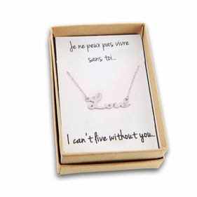 Sterling Silver Love Necklace  with Special Message