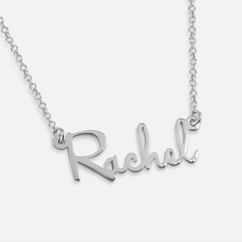 Sterling Silver Mini Name Necklace