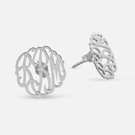 Sterling Silver Sterling Silver Monogram Stud Earrings