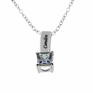 Sterling Silver Mother's Necklace with 1 Birthstone Charm