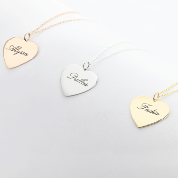 Sterling Silver Personalized Heart Necklace