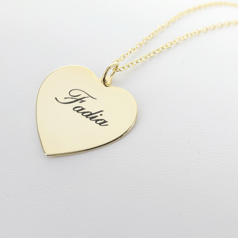 Sterling Silver Personalized Heart Necklace Monogram Online