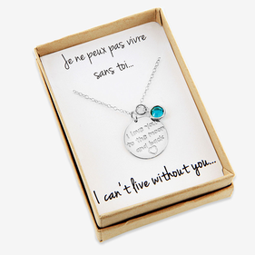 Sterling Silver Personalized I Love You to The Moon and Back Necklace with Special Message included