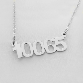 Sterling Silver Zip Code Necklace