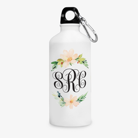Summer Flowers Design Aluminum Water Bottle