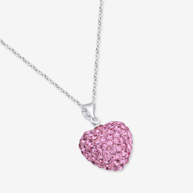 Swarovski Crystal Necklace for Kids With Initial Option