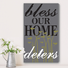 Blessings Personalized Canvas Print