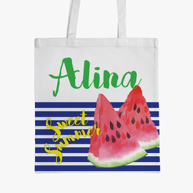 Sweet Summer Small Personalized Kids Tote Bag