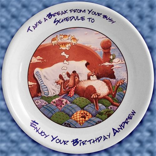 Take a Break on Your Birthday by Gary Patterson Plate