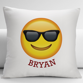 The Sunglasses Emoji Customized Decorative Cushion Cover