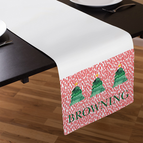 Trees Personalized Name Table Runner