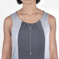Two Initial Lariat Necklace