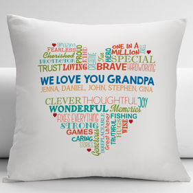 We Love You Grandpa Decorative Cushion Cover