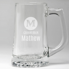 Wedding Party Personalized Groomsman Beer Mug