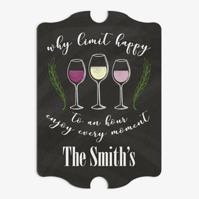 Why Limit Happy Antique Shape Personalized Bar Sign