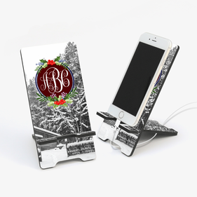 Winter Landscape Personalized Cell Phone Stand
