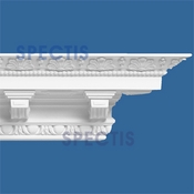 "Spectis Crown Moulding Dentil Trim MD1014 - 11 1/4""P X 9 1/4""H X 11'7""L"