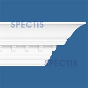 "Spectis Crown Moulding Dentil Trim MD1026 - 8 5/8""P X 8""H X 12'1""L"