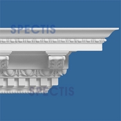"Spectis Crown Moulding Dentil Trim MD1063 or MD 1063 Moulding - 12""P X 12 3/4""H X 11'6""L"