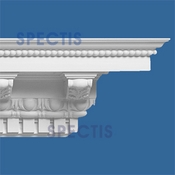 "Spectis Crown Moulding Dentil Trim MD1064 or MD 1064 Moulding - 8 1/2""P X 8 1/2""H X 11'7""L"